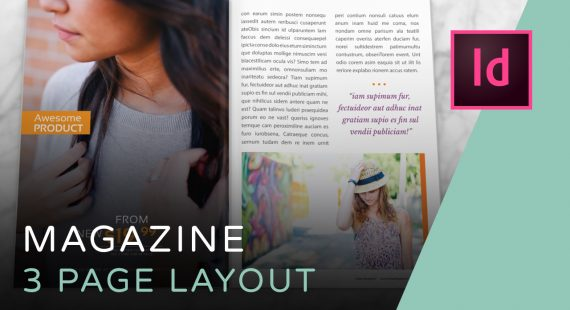 Magazine Spread - 3 Page Layout Tutorial