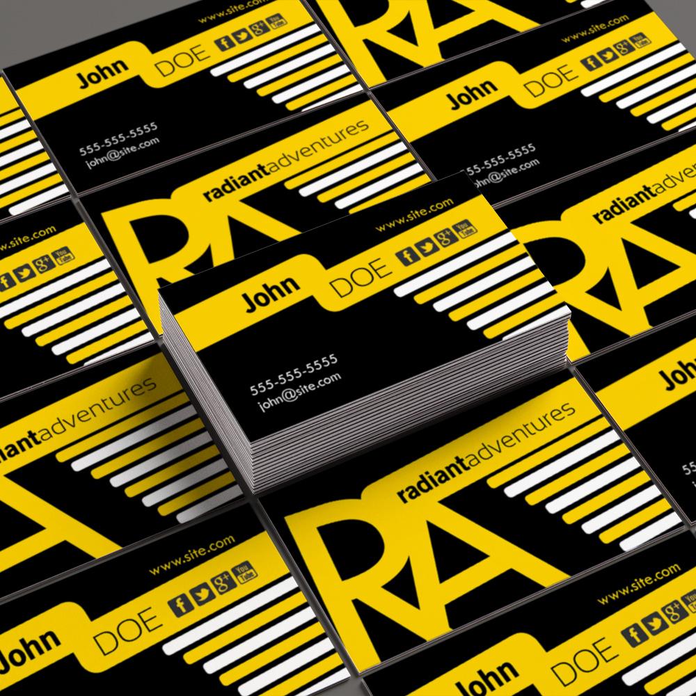 bold horizontal business card template design procademy